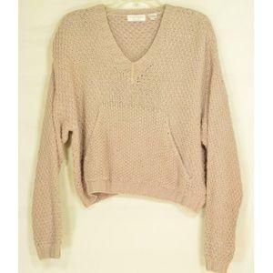 Ann Taylor Sweaters - Ann Taylor sweater L beige heavy knit silk hand wa